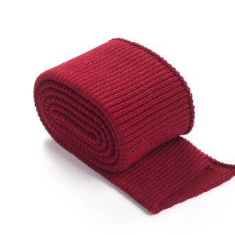 Folded ribbing RETRO BURGUNDY