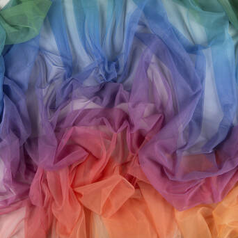 Soft printed tulle - RAINBOW
