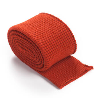Folded ribbing RETRO brick RED