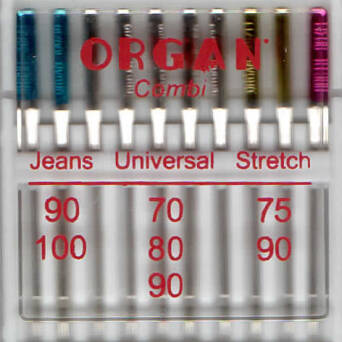 ORGAN - needles COMBI Jeans / Universal / Stretch 10 pcs