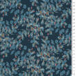 Teal Flowers - stretch fabric