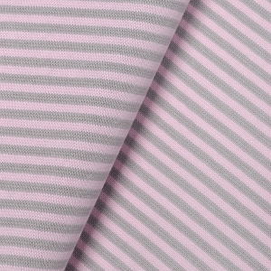 Striped cuff-  light pink & gray  >90< cm