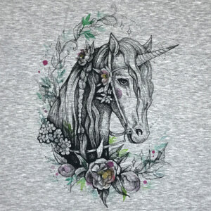 Flowers of the Unicorn - PANEL - sweat XL 80x80 cm