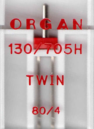 ORGAN - needle TWIN 1 pc. / thickness 80
