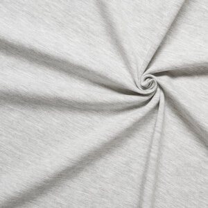 Jersey - warm, grey melange 200g coordinate for panels