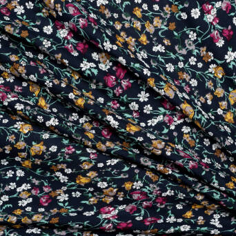 Viscose - Small flowers 2126-2