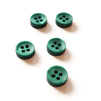 Button - 10 mm dark green