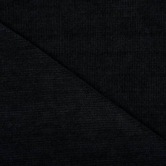 Chenille knitted fabric BLACK