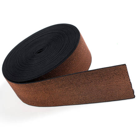 Rubber with metallic thread COPPER 50mm