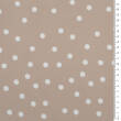 Fabric Viscose crepe PRETTY WOMAN - small dots BEIGE