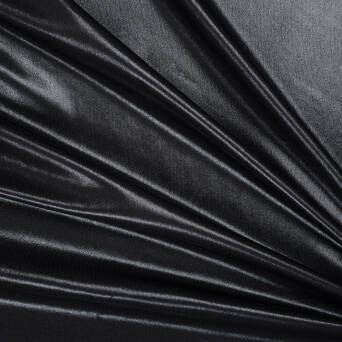 Viscose fabric  Black satin gloss