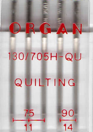ORGAN -  needle QUILTING  5 pc. MIX / thickness 75, 90