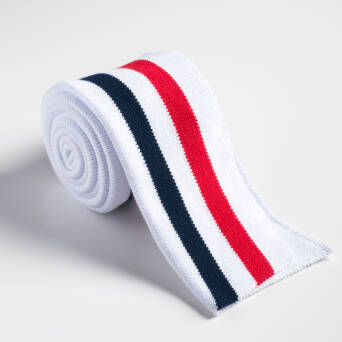 Folded ribbing WHITE/RED/NAVY BLUE
