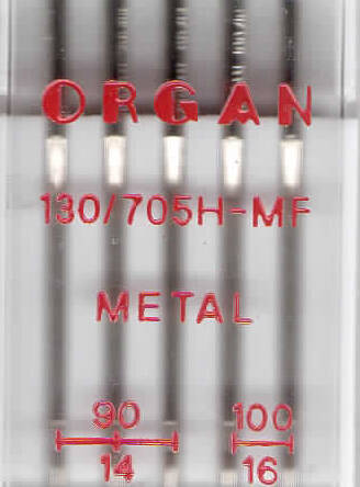 ORGAN -  Needle METAL  5 Stk. MIX / thickness 90, 100