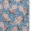 Viscose and cotton fabric LILACS IN SKY BLUE D41#03