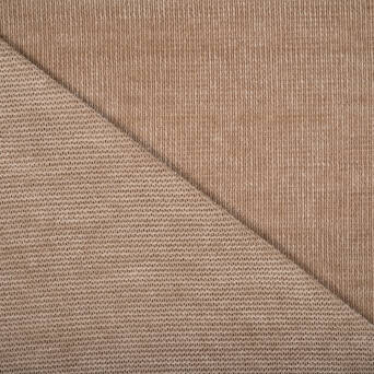 BEIGE chenille knitted fabric