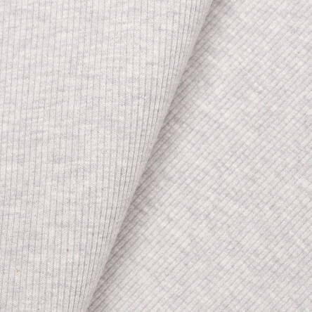 Rib cuff-  warm grey melange (5%) CREAM