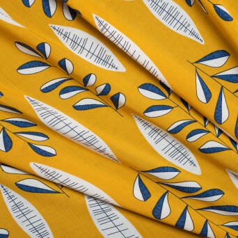 Viscose - Retro leaves 2307-3