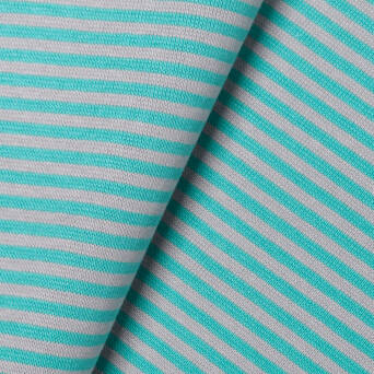 Striped cuff -  mint & grey >90< cm
