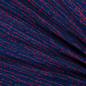 Viscose fabric twigs D2073#06