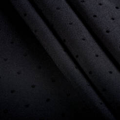 Woven fabric with flock dots