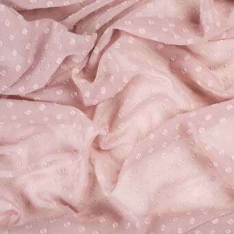 Chiffon with interlock dots  OLD ROSE