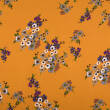 Viscose crepe fabric - pastel flowers HONEY