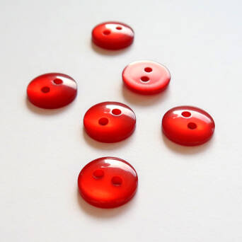 Button- 12 mm red