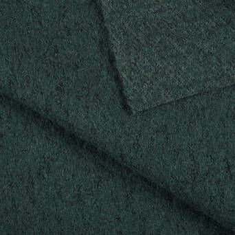 Coat fabric - DARK GREEN