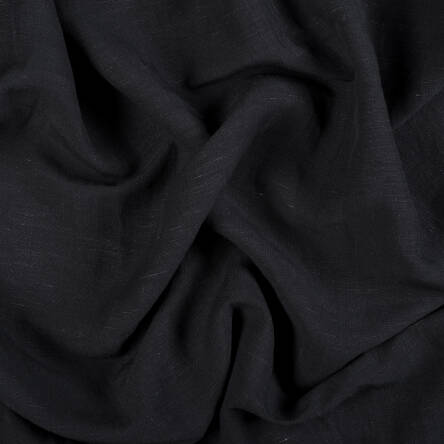 Linen/viscose fabric - BLACK