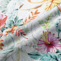 Cotton fabric pastel flowers