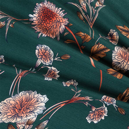 Viscose fabric on GREEN RM19064-4