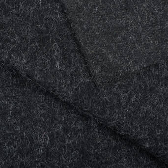 Coat fabric - BLACK