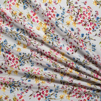 Viscose fabric Meadow on grey T0660#01