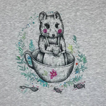 Mouse in the CUP - PANEL - jersey