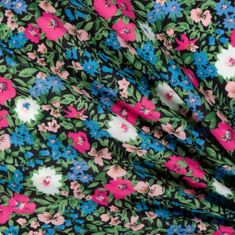 Cotton fabric DARK MEADOW