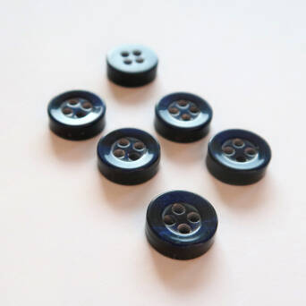 Button - 10 mm navy blue