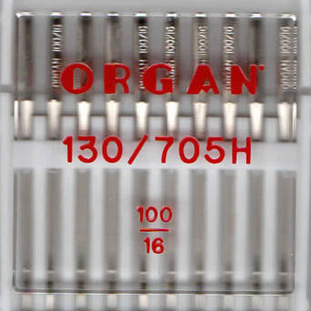 ORGAN - universal needles for fabrics 10 items / thickness 100