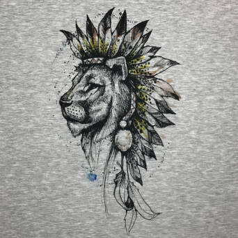 Lion world - PANEL - sweat XL 80x80 cm