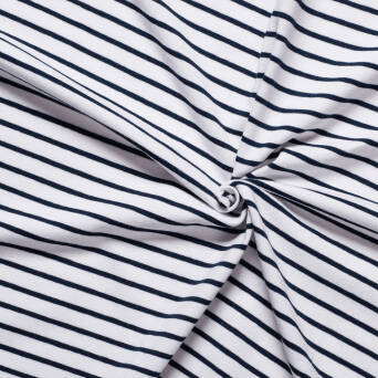 CLASSIC Stripes - white / navy blue jersey 200g >185cm!<