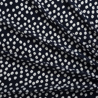 Viscose fabric CAMOMILE NAVY 82188#4