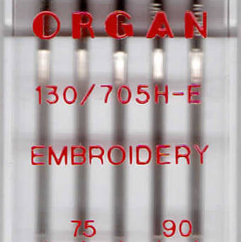 ORGAN - embroidery needles 5 pcs. MIX / thickness 75, 90