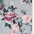 Blooming flowers in Grey Jersey 200g