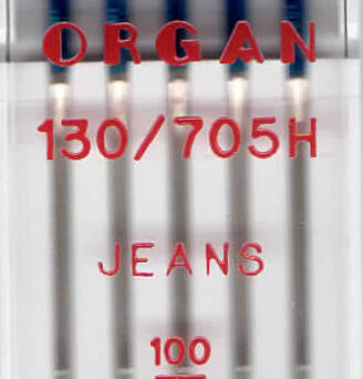 ORGAN - Universal JEANS needles 5 pieces / thickness 100