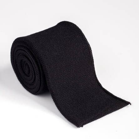 Folded ribbing BLACK XL 140 cm