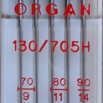 ORGAN - universal needles for fabrics MIX 5 pc/ thickness 70, 80, 90