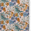 Viscose and cotton fabric FLOWER MEADOW ON PINK  D31#01