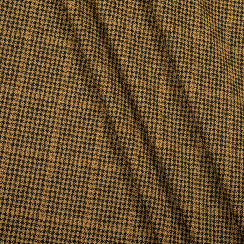 Fabric check pattern BROWN/GOLD