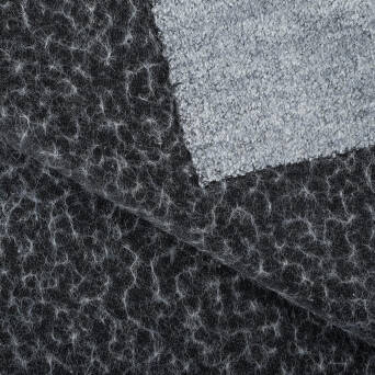 Coat fabric - BLACK/WHITE