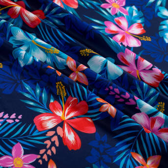 Lycra fabric HAWAII NAVY #545A